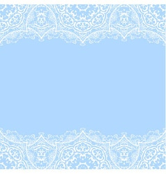 Decorative border with white lace vector