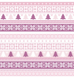 decorative seamless background christmas handmade vector image