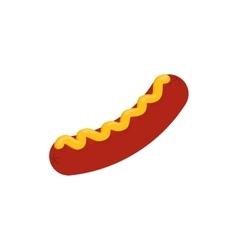 Delicious sausage bbq vector