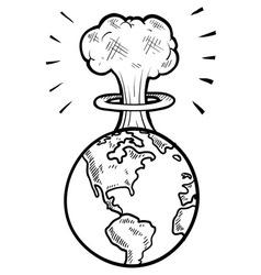 doodle earth nuke vector image