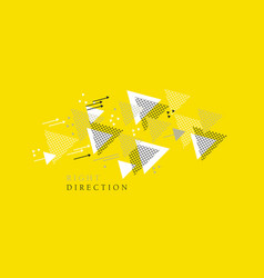 dynamic and direction geometric concept vector image