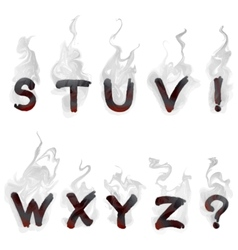 English smoking alphabet vector image