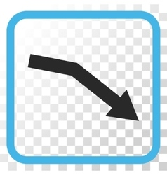 Fail Trend Icon In a Frame vector image