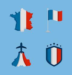 France bastille icons vector