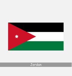 jordan jordanian national country flag banner icon vector image