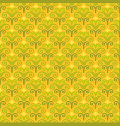 Korean traditional yellow flower pattern vector