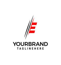 Letter e logo graphic elegant and unique sliced vector