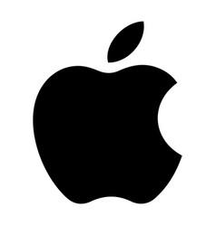 Logo company apple inc isolated on white vector