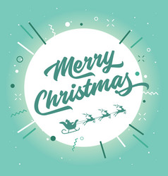 merry christmas santa claus and reindeer vector image