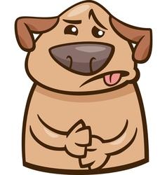 Mood sick dog cartoon vector