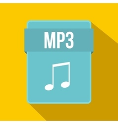 MP3 file icon flat style vector image