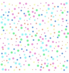 Multicolored pattern shapes on white background vector
