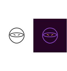 Ninja icon cartoon ninja vector