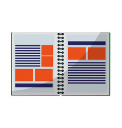 notebook icon image vector image