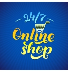 Online Shop Logo Shop print on a T-shirt Shop vector
