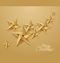 origami paper christmas holiday star vector image