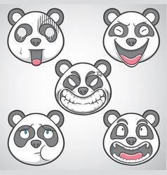 Panda emoticons set 1 vector