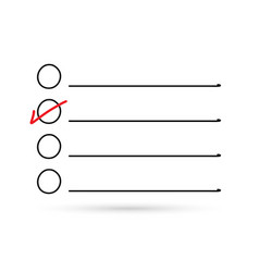 popular drawing check list and choice symbol vector image