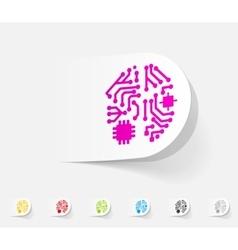 Realistic design element artificial intelligence vector