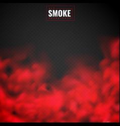 Red smoke mist powder clouds smoking spooky vector
