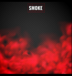 Red smoke mist red powder clouds smoking spooky vector