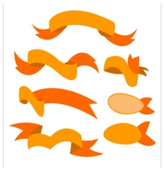 Ribbon orange vector