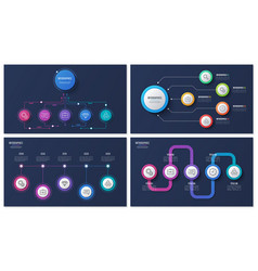 Set 5 options infographic designs vector