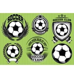Set soccer football badge logo design templates vector
