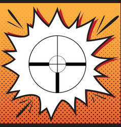 Sight sign comics style icon vector