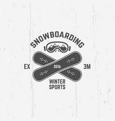 snowboarding extreme winter sport emblem vector image