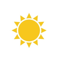 Sun flat Symbol sunrise vector