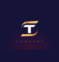 T letter logo design modern letter template vector
