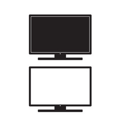 television icon monitor tv flat sign vector image