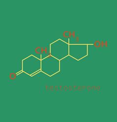 Testosterone male sex hormone androgen molecule vector
