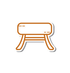 Thin line chair icon vector