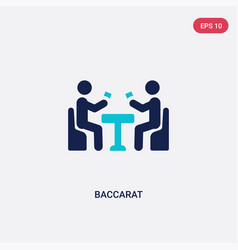 two color baccarat icon from activity and hobbies vector image