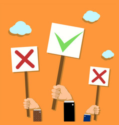 Voting and demonstrations vector