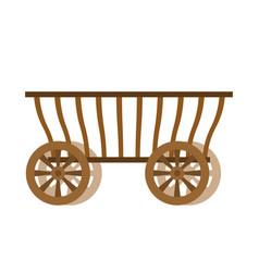 Wagon wood old farm transport ancient cargo vector