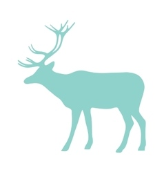 Wild deer animal flat silhouette vector