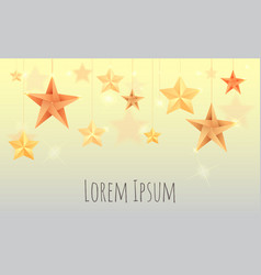 with origami stars sparks and place for text for y vector image