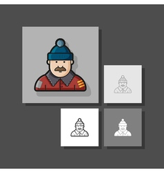 a set of unique characters contour different vector image