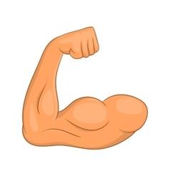 Biceps hands icon cartoon style vector