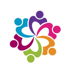 People networking logo vector