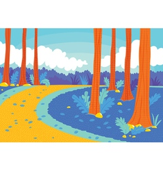 road in woods vector image