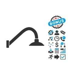 Tap mixer flat icon with bonus vector