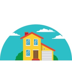 Townhouse Flat House vector image