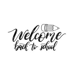 Vintage back to school poster with pencil drawing vector