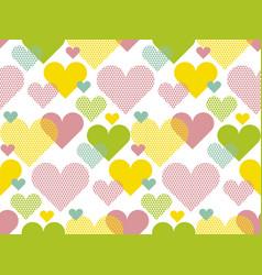 vivid colored love concept icon repeatable motif vector image
