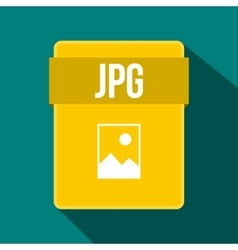 JPG file icon flat style vector image vector image