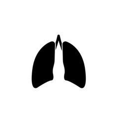 Lungs solid icon organ and part of body vector